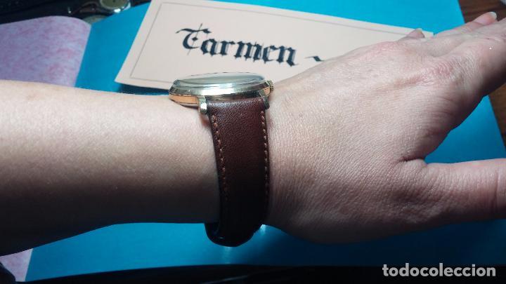 Relojes de pulsera: Botito reloj de cuerda Cyma, antiquisimo, de hombre, funcionando, grande, hermoso, lindo, chapado - Foto 10 - 68612953