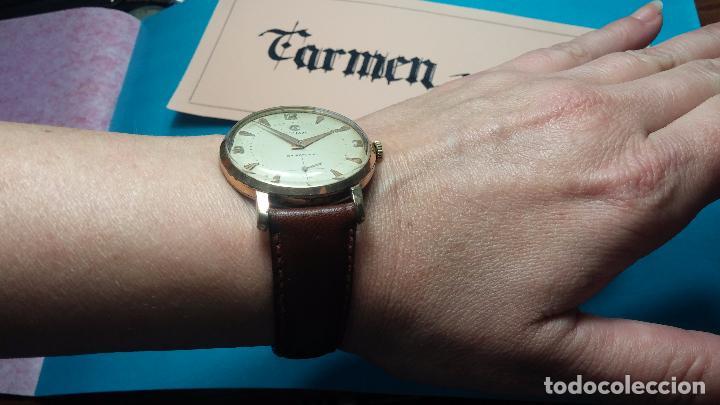 Relojes de pulsera: Botito reloj de cuerda Cyma, antiquisimo, de hombre, funcionando, grande, hermoso, lindo, chapado - Foto 11 - 68612953