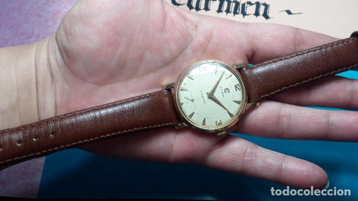 Relojes de pulsera: Botito reloj de cuerda Cyma, antiquisimo, de hombre, funcionando, grande, hermoso, lindo, chapado - Foto 13 - 68612953