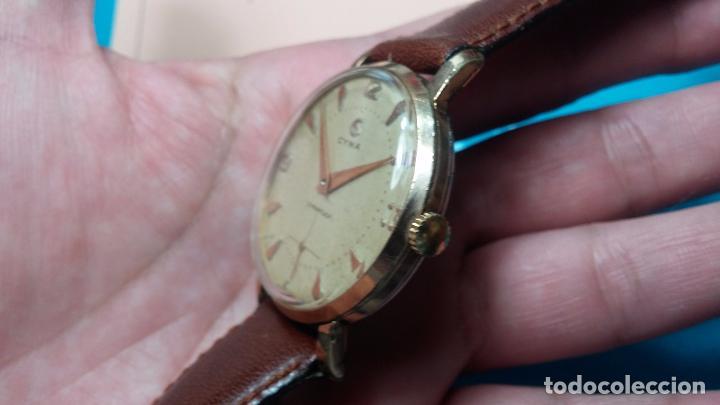 Relojes de pulsera: Botito reloj de cuerda Cyma, antiquisimo, de hombre, funcionando, grande, hermoso, lindo, chapado - Foto 15 - 68612953