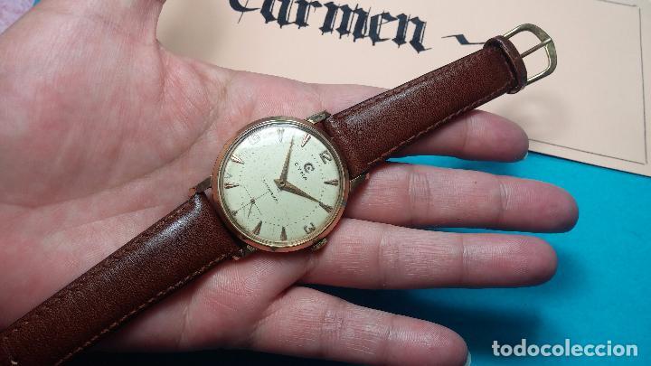 Relojes de pulsera: Botito reloj de cuerda Cyma, antiquisimo, de hombre, funcionando, grande, hermoso, lindo, chapado - Foto 16 - 68612953
