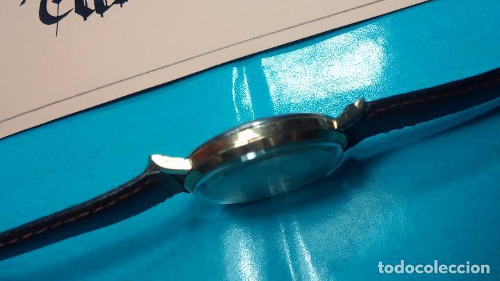 Relojes de pulsera: Botito reloj de cuerda Cyma, antiquisimo, de hombre, funcionando, grande, hermoso, lindo, chapado - Foto 17 - 68612953