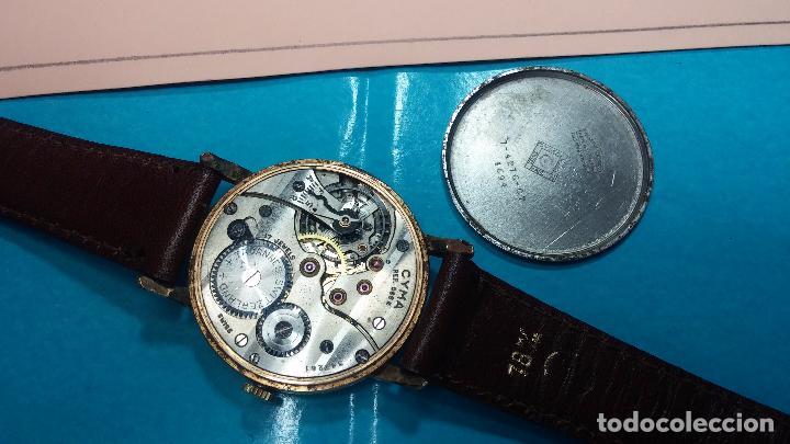 Relojes de pulsera: Botito reloj de cuerda Cyma, antiquisimo, de hombre, funcionando, grande, hermoso, lindo, chapado - Foto 19 - 68612953