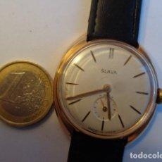 Relojes de pulsera: ANTIGUO (AÑOS 50-60), RARO E IMPORTANTE RELOJ CABALLERO CUERDA --SLAVA--MUY BUEN E. Y FUNCIONANDO PE. Lote 69662829