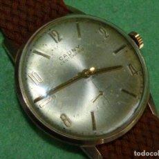 Relojes de pulsera: PRECIOSO RELOJ CAUNY CENTENARIO SWISS MADE 17 RUBIS AÑOS 50 BUEN TAMAÑO COLECCIÓN CYMA OMEGA. Lote 70015501