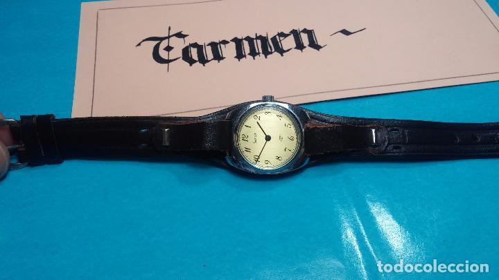 Relojes de pulsera: Botito reloj de cuerda Leonix, muy antiguo, funcionando - Foto 7 - 70253161