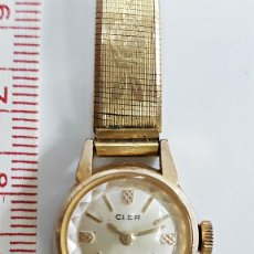 Relojes de pulsera: RELOJ CLER DE SEÑORA. CUERDA 17 RUBIS. SWISS MADE. Lote 71027889