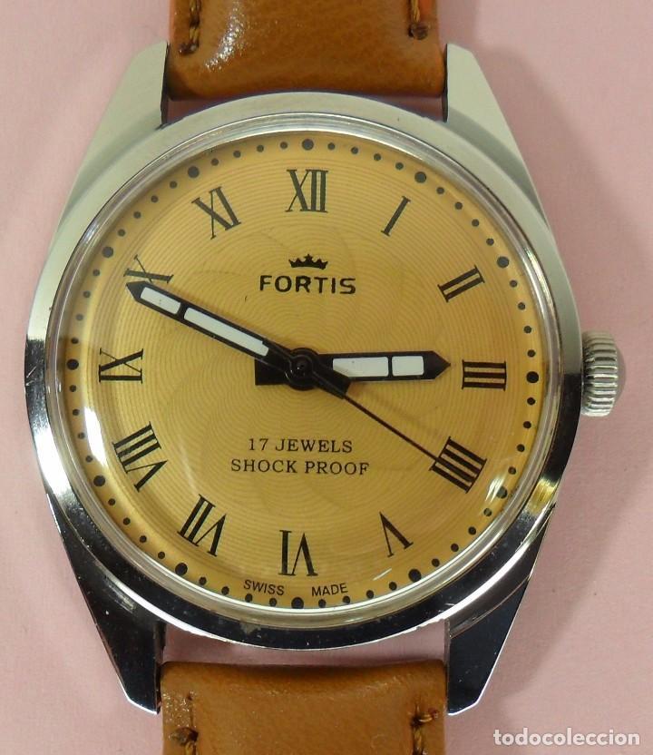 4f14222d0d32 Vintage Reloj FORTIS mecánico de pulsera para hombre. Años 70 - 17 Jewels