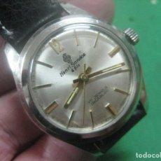 Relojes de pulsera: PRECIOSO RELOJ DE PULSERA MARCA SUIZA SANDOZ CON ESFERA BLANCA,FUNCIONA,17 JOYAS,DATA DE LOS AÑOS 50. Lote 178773717