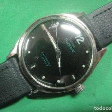 Relojes de pulsera: PRECIOSO RELOJ DE PULSERA MARCA HMT PILOT CON ESFERA NEGRA, FUNCIONA, 17 JOYAS,DATA DE LOS AÑOS 50. Lote 71993107