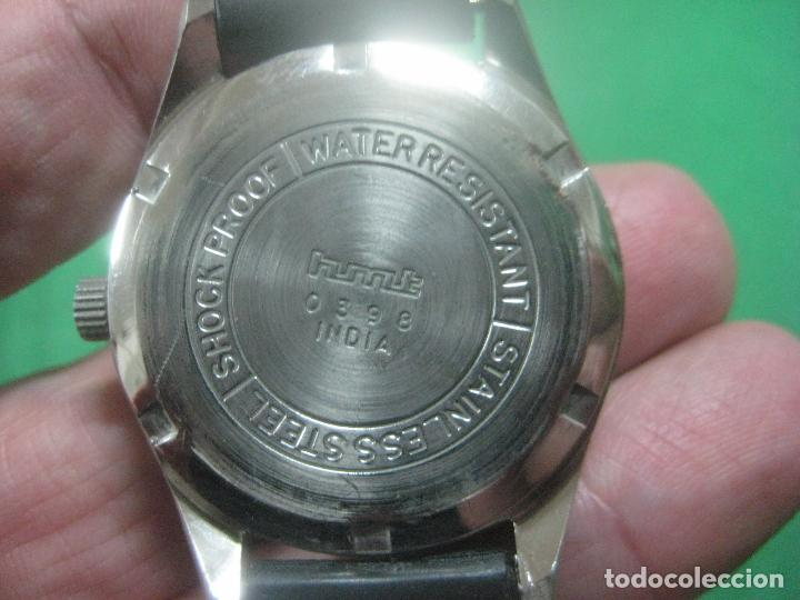 Relojes de pulsera: PRECIOSO RELOJ DE PULSERA MARCA HMT PILOT CON ESFERA NEGRA, FUNCIONA, 17 JOYAS,DATA DE LOS AÑOS 50 - Foto 6 - 71993107