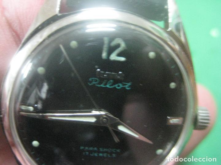 Relojes de pulsera: PRECIOSO RELOJ DE PULSERA MARCA HMT PILOT CON ESFERA NEGRA, FUNCIONA, 17 JOYAS,DATA DE LOS AÑOS 50 - Foto 7 - 71993107