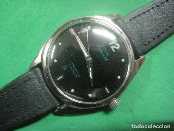Relojes de pulsera: PRECIOSO RELOJ DE PULSERA MARCA HMT PILOT CON ESFERA NEGRA, FUNCIONA, 17 JOYAS,DATA DE LOS AÑOS 50 - Foto 8 - 71993107