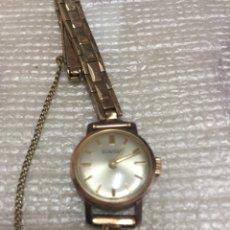 Relojes de pulsera: DUWARD. RELOJ SEÑORA. TODO ORIGINAL. FUNCIONANDO. PLACA DE ORO.. Lote 72460401