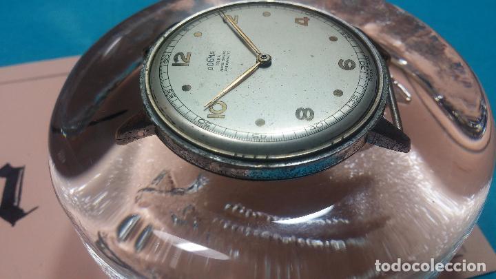Relojes de pulsera: Botito, enorme y antiquisimo reloj DOGMA de caballero, anda un poquito si se mueve y se para.... - Foto 9 - 73609547
