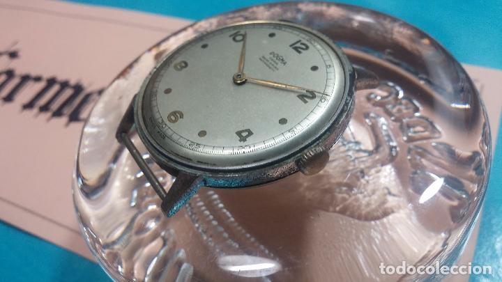 Relojes de pulsera: Botito, enorme y antiquisimo reloj DOGMA de caballero, anda un poquito si se mueve y se para.... - Foto 11 - 73609547