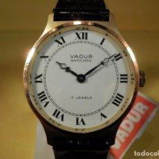 Relojes de pulsera: RELOJ VADUR 17 RUBIS ANTICHOC (NOS = NEW OLD STOCK)-ENVIO GRATUITO PARA ESPAÑA (PENINSULA). Lote 74120059