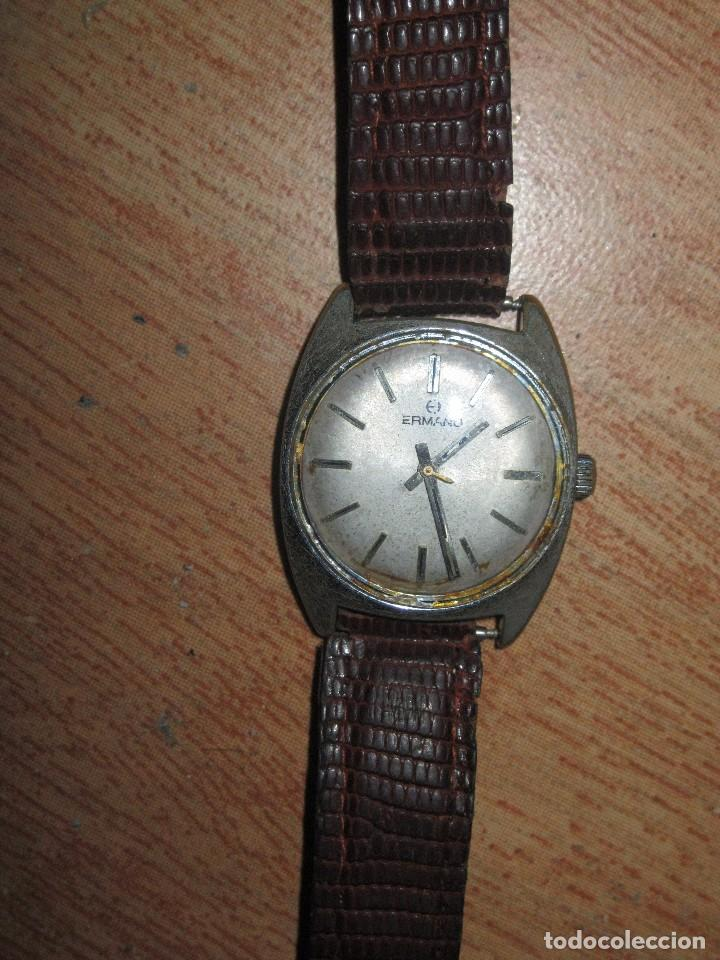 c3af19a86a17 3 fotos RARO Y ANTIGUO RELOJ CABALLERO MARCA ERMANO CORREA PIEL SERPIENTE  FUNCIONA DIFICIL DE CONSEGUIR (Relojes ...