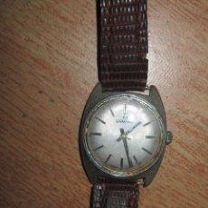 Relojes de pulsera: RARO Y ANTIGUO RELOJ CABALLERO MARCA ERMANO CORREA PIEL SERPIENTE FUNCIONA DIFICIL DE CONSEGUIR. Lote 74303383