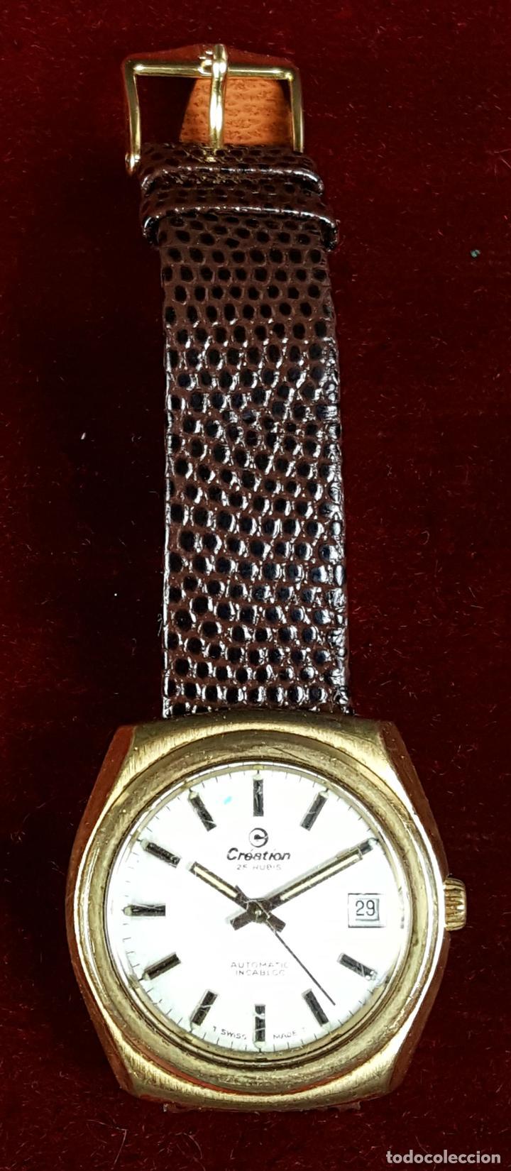 RELOJ DE PULSERA. CREATION. 25 RUBIS. CAJA CHAPADA EN ORO. AUTOMATICO. CIRCA 1970 (Relojes - Pulsera Carga Manual)