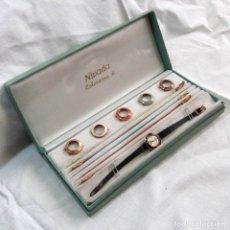 Relojes de pulsera: RELOJ NIVADA DE SEÑORA COLORAMA VI 6 CORREAS Y BISELES INTERCAMBIABLES BAÑO ORO G 20 GR. Lote 75254223