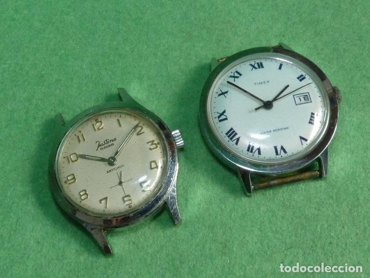 Bello lote reloj justina timex caballero carga comprar - Relojes justina precios ...