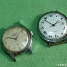 Relojes de pulsera: BELLO LOTE RELOJ JUSTINA TIMEX CABALLERO CARGA MANUAL ANTIGUO 15 RUBIS FUNCIONANDO ORIGINAL AÑOS 60. Lote 151688850