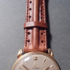 Relojes de pulsera: ANTIGUO RELOJ - CYMA - DE ORO 18 KL. SWISS MADE FUNCIONANDO PERFECTAMENTE SISTEMA DE CUERDA .. Lote 128856099
