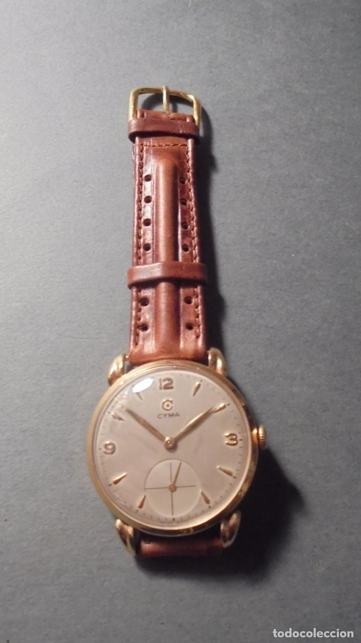 Relojes de pulsera: ANTIGUO RELOJ - CYMA - DE ORO 18 KL. SWISS MADE FUNCIONANDO PERFECTAMENTE SISTEMA DE CUERDA . - Foto 2 - 128856099