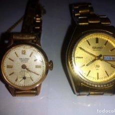 Relojes de pulsera: 2 ANTIGUOS RELOJES DE MUJER AÑOS 60 Y 70. Lote 76708727