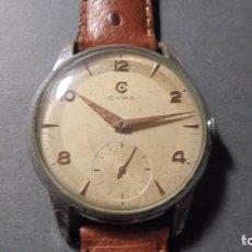 Relojes de pulsera: RELOJ CYMA DE CARGA MANUAL CAJA METALICA , FUNCIONANDO - 4,5X4 CM. . Lote 77053565