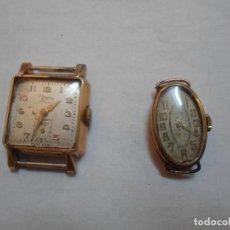 Relojes de pulsera: PAREJA DE RELOJES DE CUERDA AÑOS 40-50. Lote 77368321