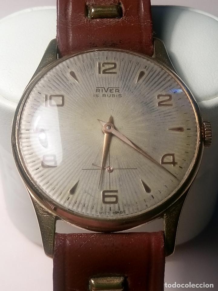 Relojes de pulsera: ANTIGUO RIVER SUIZO - AÑOS 50. FUNCIONANDO BIEN. 38 MM. C/C. LLEVA CORREA. FOTOS VARIAS. - Foto 12 - 56498852