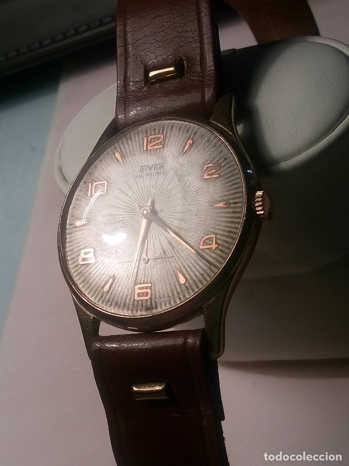 Relojes de pulsera: ANTIGUO RIVER SUIZO - AÑOS 50. FUNCIONANDO BIEN. 38 MM. C/C. LLEVA CORREA. FOTOS VARIAS. - Foto 10 - 56498852