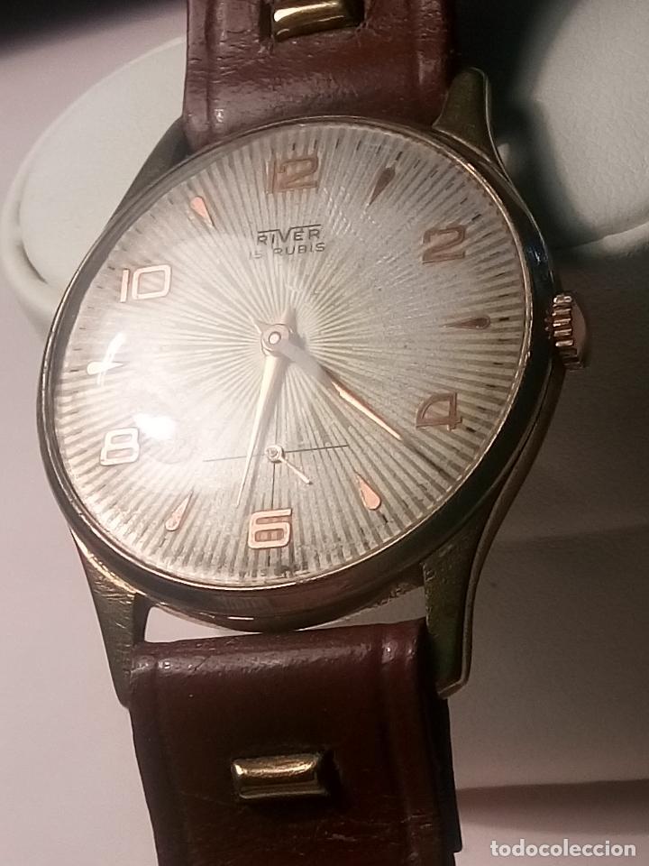Relojes de pulsera: ANTIGUO RIVER SUIZO - AÑOS 50. FUNCIONANDO BIEN. 38 MM. C/C. LLEVA CORREA. FOTOS VARIAS. - Foto 11 - 56498852