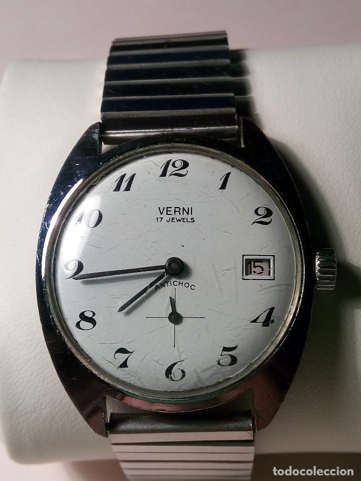 ANTIGUO VERNI - AÑOS 60. 17 RUBIS. 37 MM. - FUNCIONANDO. FOTOS VARIAS. (Relojes - Pulsera Carga Manual)
