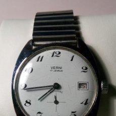 Relojes de pulsera: ANTIGUO VERNI - AÑOS 60. 17 RUBIS. 37 MM. - FUNCIONANDO BIEN. DESCRIPCION Y FOTOS VARIAS.. Lote 30055718