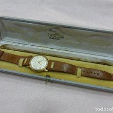 Relojes de pulsera: ANTIGUO RARO ESCASO RELOJ ENICAR PLAQUÉ ORO - SUIZO - ORIGINAL AÑOS 40 - FUNCIONANDO PERFECTAMENTE. Lote 79162657