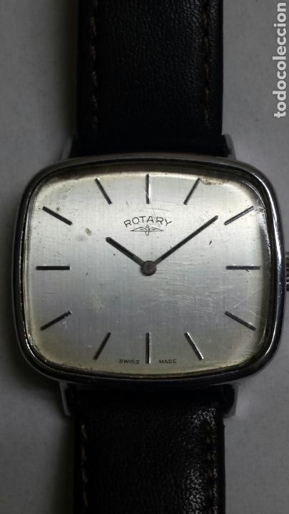 RELOJ ANTIGUO DE CUERDA ROTARY SWISS MADE FUNCIONANDO (Relojes - Pulsera Carga Manual)