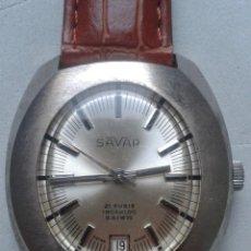 Relojes de pulsera: RELOJ MARCA SAVAR. CLÁSICO DE CABALLERO. FUNCIONANDO.. Lote 80227333