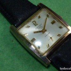 Relojes de pulsera: ESCASO RELOJ CAUNY PRIMA UNITY SWISS 17 RUBÍS SOLIDO CALIBRE FEF290 ELEGANTE CAJA AÑOS 50 VINTAGE. Lote 80546886