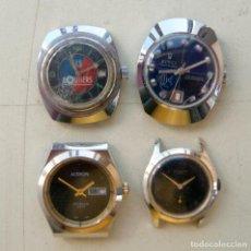 Relojes de pulsera: LOTE DE 4 RELOJES MECANICOS PARA PIEZAS C18. Lote 80815287