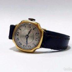 Relojes de pulsera: RELOJ DE PULSERA PARA MUJER EN ORO 18K - ART DECÓ C.1930 MAQUINARIA FUNCIONANDO. Lote 77221725