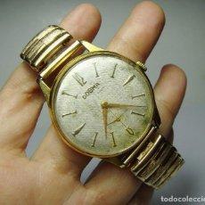 Relojes de pulsera: RELOJ DE PULSERA. DOGMA PRIMA. 15 RUBÍS. ANTIMAGNETIC. BAÑO DE ORO LA CAJA Y LA CORREA. FUNCIONA.. Lote 80858735