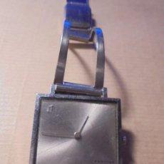 Relojes de pulsera: ANTIGUO RELOJ - FESTINA SUPERIORIDAD CUADRADO SUPERFINO CAJA Y PULSERA DE ACERO , CARGA MANUAL. Lote 81015816