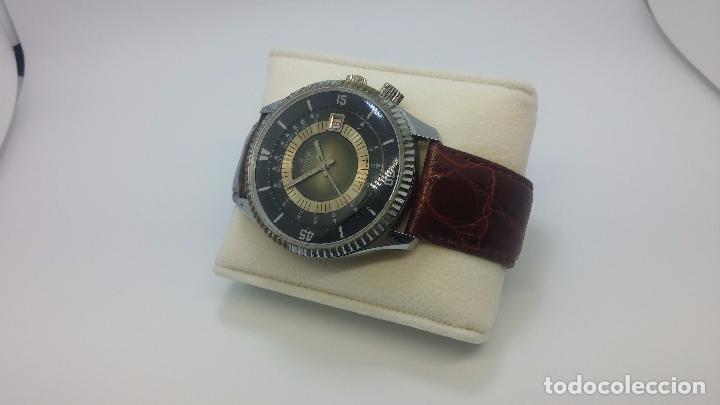 Relojes de pulsera: Botito reloj de cuerda de caballero vintage, muy grande 4,50 aprox c/c y antiguo, funcionando - Foto 2 - 81250792