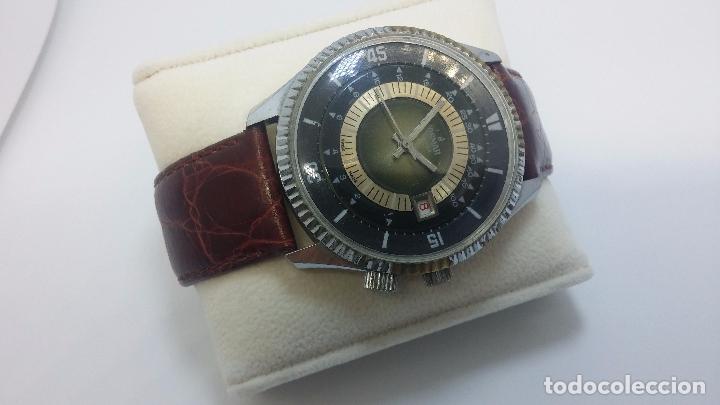 Relojes de pulsera: Botito reloj de cuerda de caballero vintage, muy grande 4,50 aprox c/c y antiguo, funcionando - Foto 3 - 81250792
