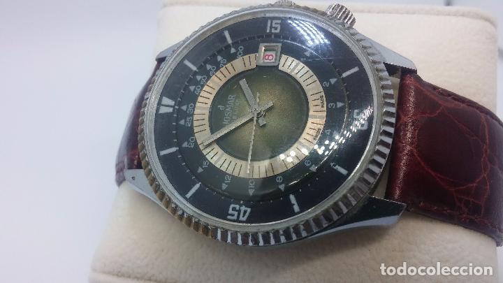 Relojes de pulsera: Botito reloj de cuerda de caballero vintage, muy grande 4,50 aprox c/c y antiguo, funcionando - Foto 4 - 81250792