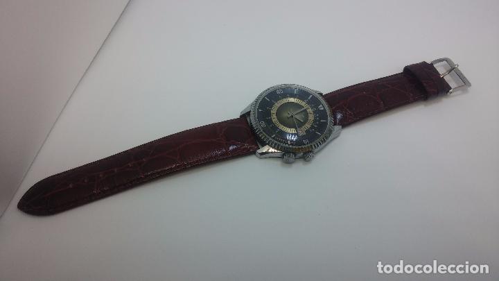 Relojes de pulsera: Botito reloj de cuerda de caballero vintage, muy grande 4,50 aprox c/c y antiguo, funcionando - Foto 6 - 81250792