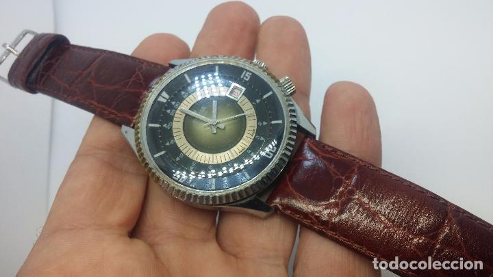 Relojes de pulsera: Botito reloj de cuerda de caballero vintage, muy grande 4,50 aprox c/c y antiguo, funcionando - Foto 7 - 81250792